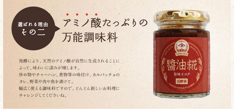 アミノ酸たっぷりの醤油糀